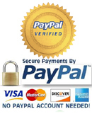 Securely Accepts most Debit/Credit Cards